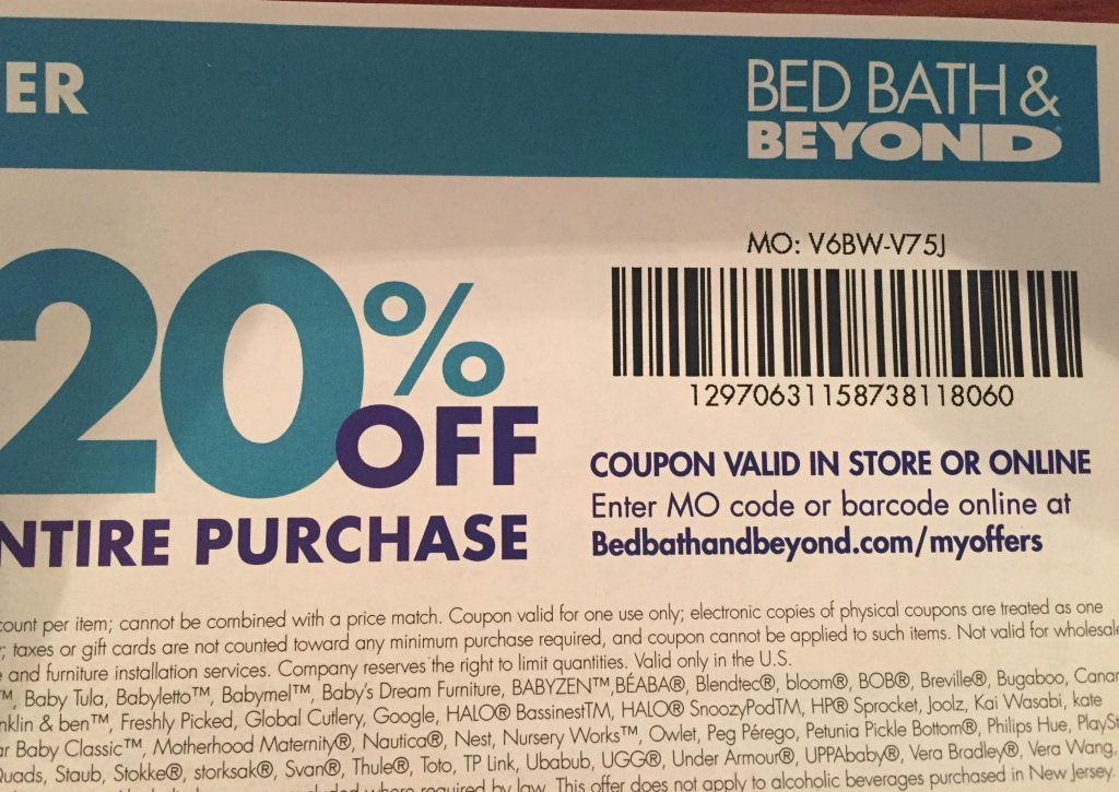 Giving Back Bed Bath Beyond 20 Off Entire Purchase Special