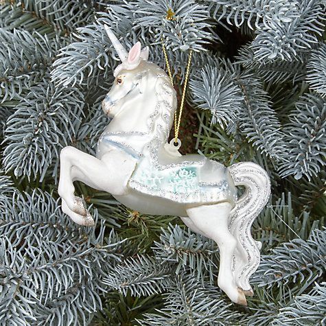 Buy John Lewis Winter Palace Anastasia Unicorn Tree Decoration Online At  Johnlewis.com