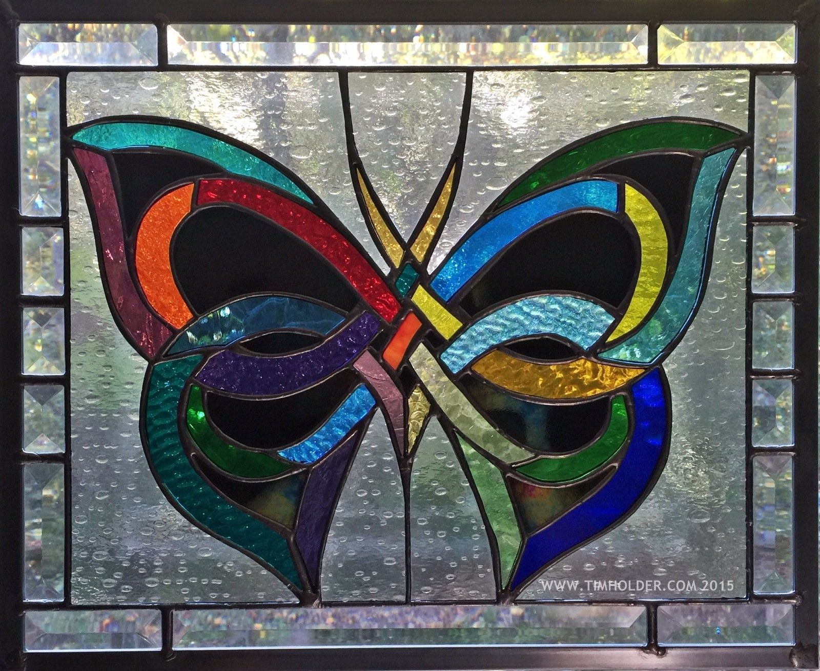 AMERICAN STAINED GLASS WINDOW \