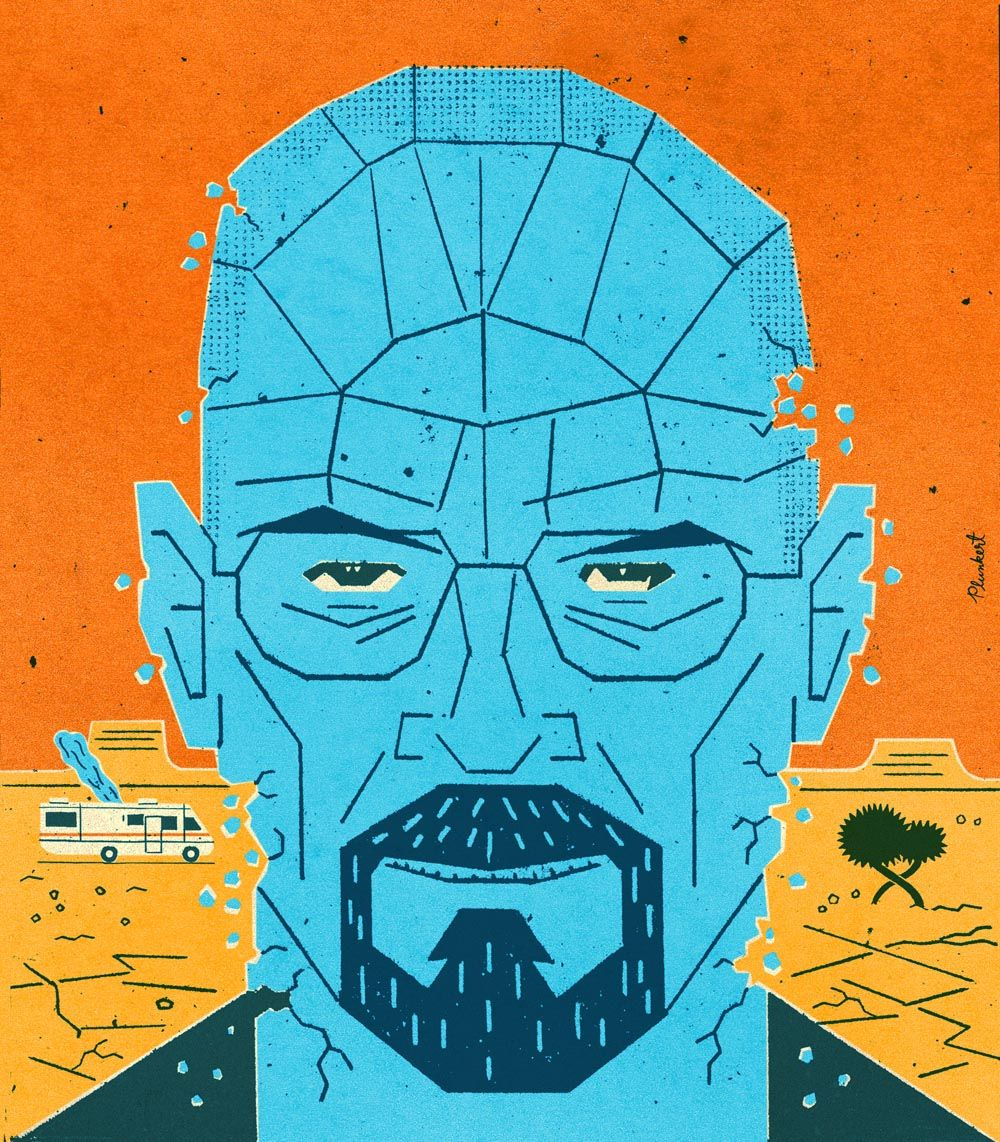Walter White by David Plunkert in Cockeysville, MD Appeared in The Washington Post.