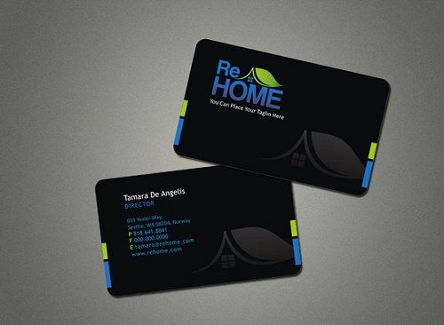 business card 5 real estate business card design card designs