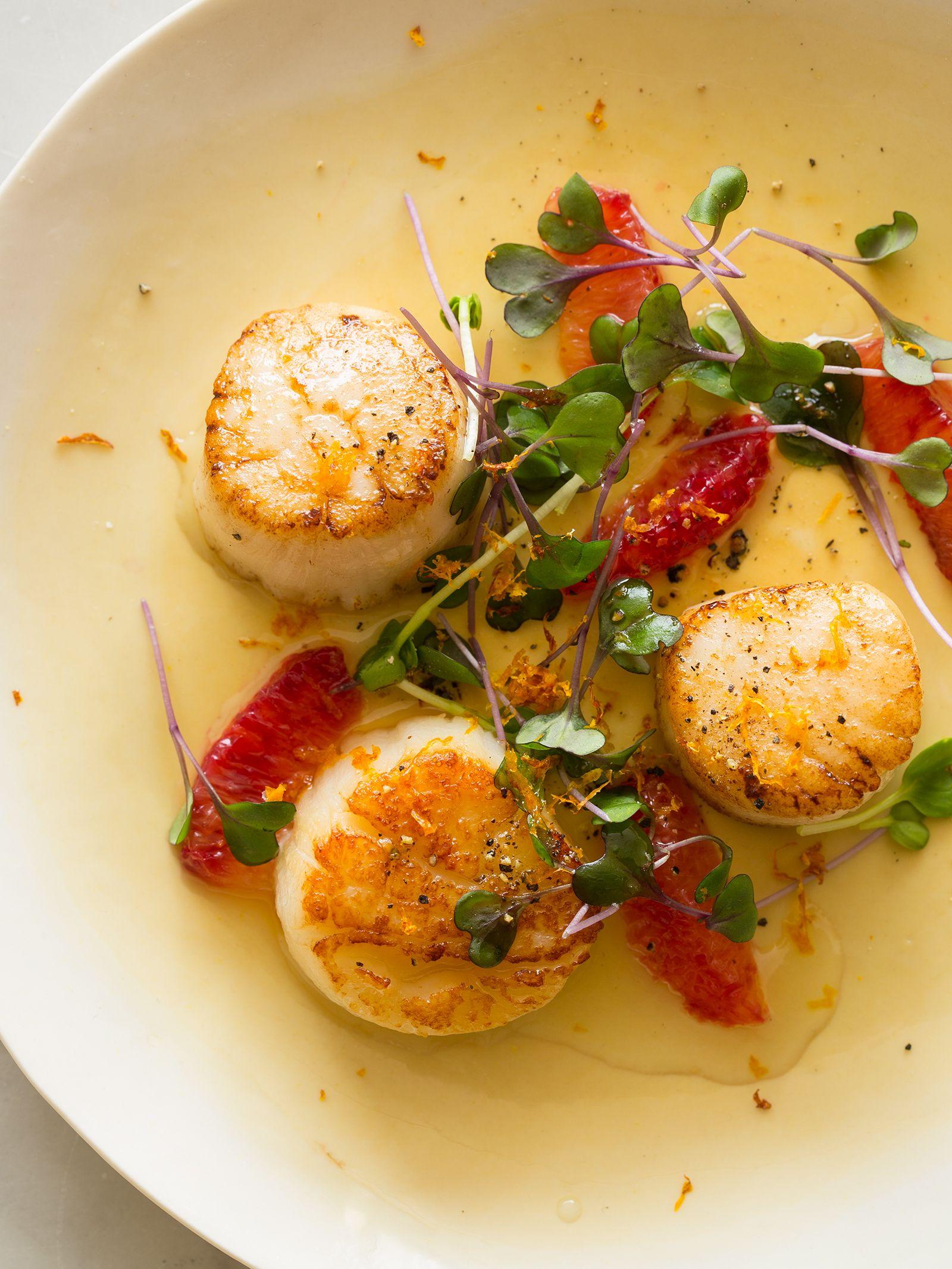 Citrus Seared Scallops Recipe Scallops Seared Scallop Recipes Seafood Recipes