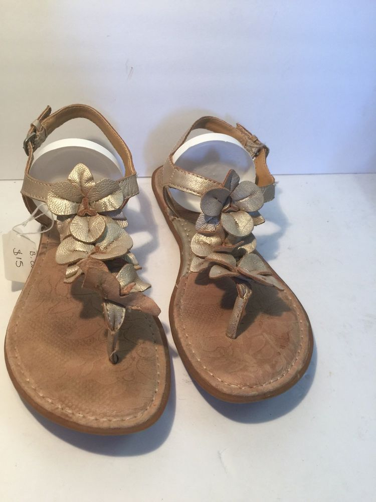 3026cdd334d9 BOC Born Concept Women s Beige Leather Flower Thong Flip Flop Sandals Size  8 M  fashion  clothing  shoes  accessories  womensshoes  sandals (ebay link)