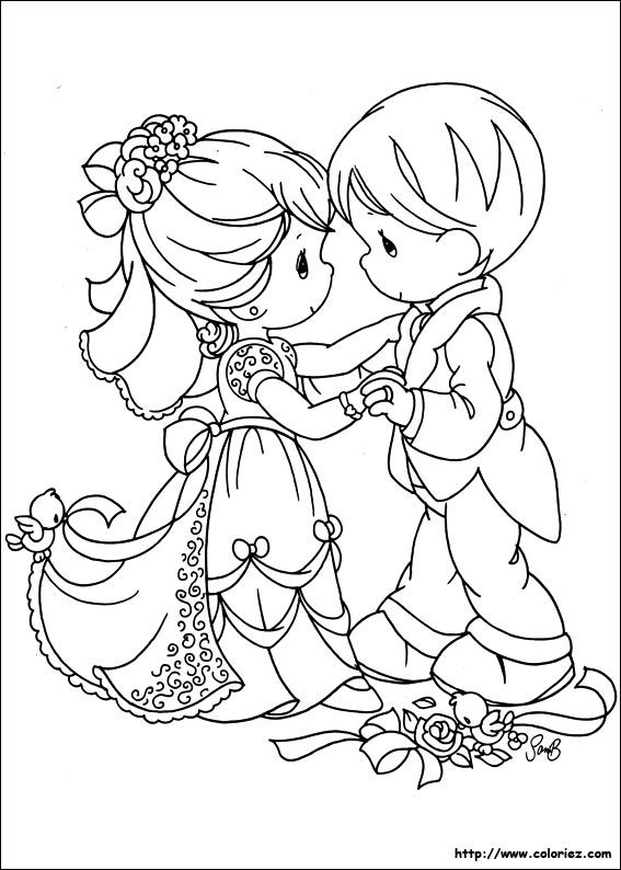 Couple Bestie Precious Moments Coloring Pages Coloring Pictures Wedding Coloring Pages