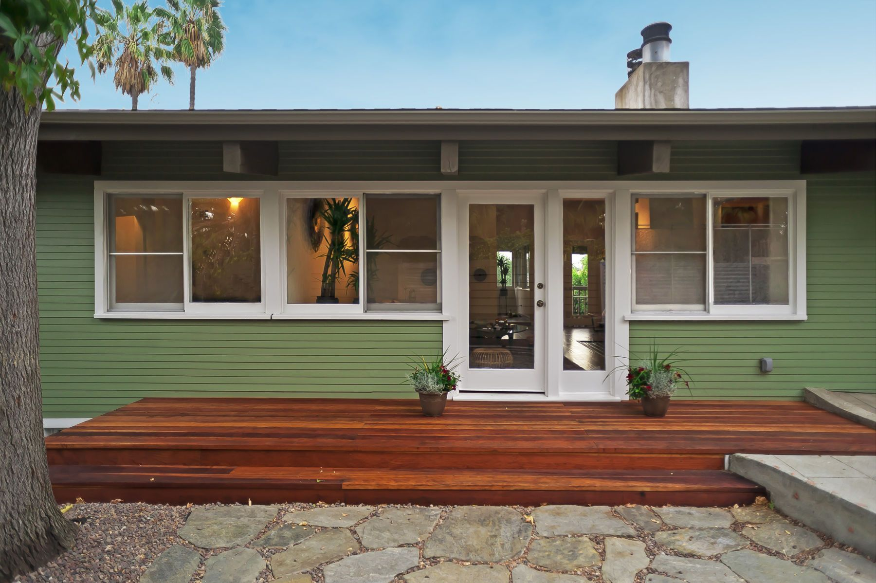 mid century modern front porch. Front Porches · Mid-century-modern-eclectic-living-room-small-kitchen- Mid Century Modern Porch N
