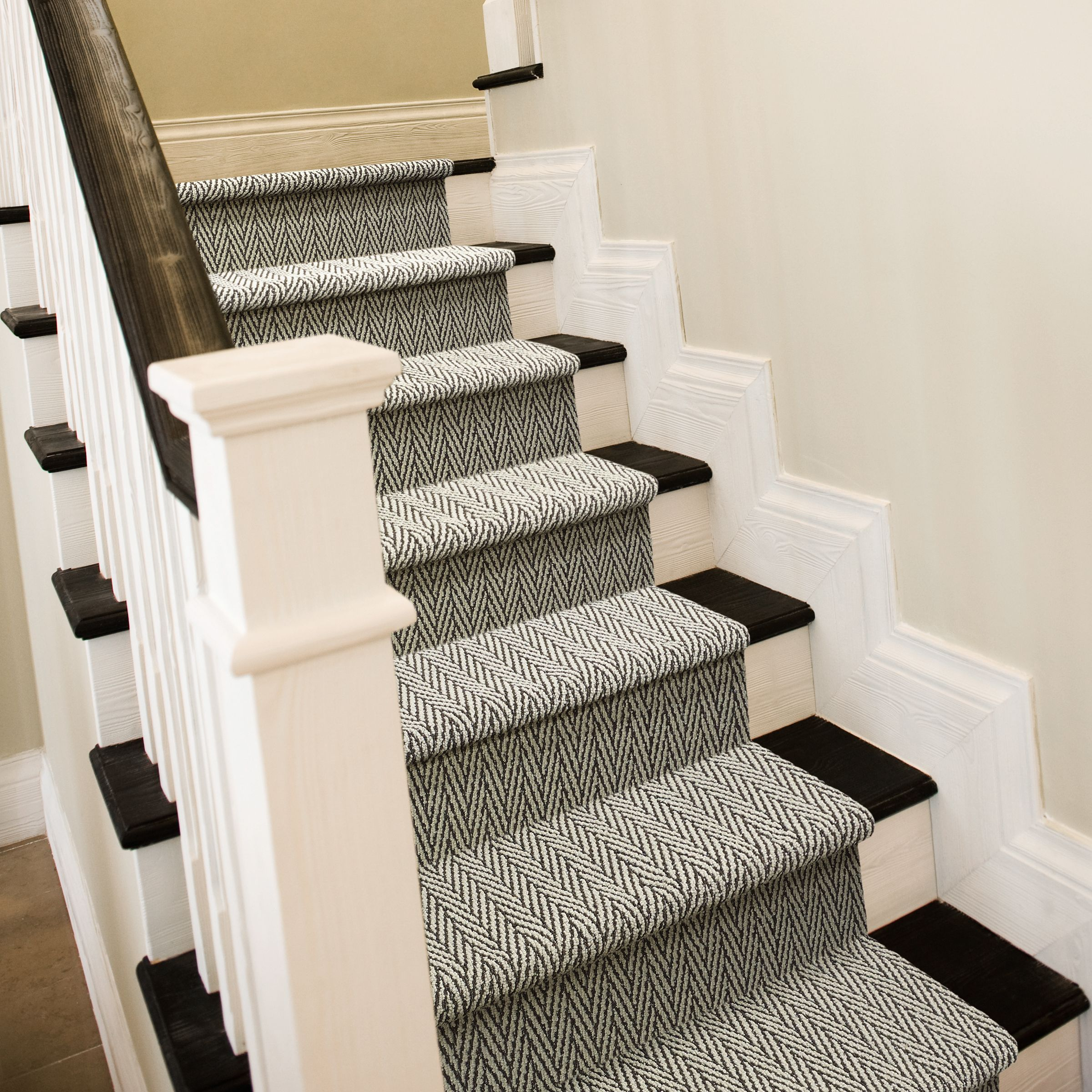 Only Natural Ii Zz010 00518 Carpet Flooring Anderson Tuftex   Carpet On Stairs Only   Concept   Line Carpet Staircase Double   Pinstripe Grey   Grey   Wood