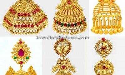 12b376ff0 jhumka designs in joyalukkas latest collection Jhumka Designs, Gold  Designs, Indian Jewelry, Ear