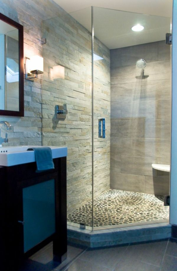 kleine steine für den duschkabienenboden Bad Pinterest - kleine moderne badezimmer