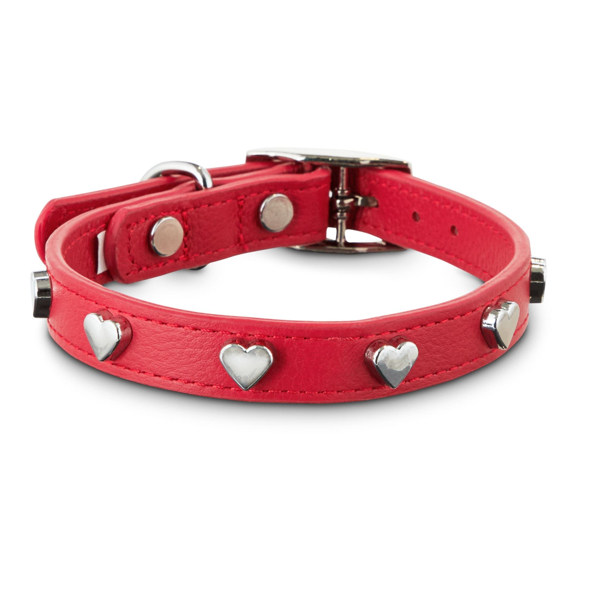 Bond Co All Heart Red Leather Dog Collar X Small Small In 2020