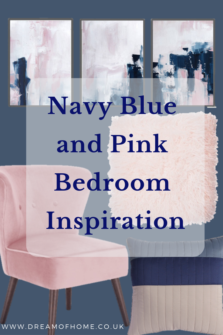 Navy Blue And Pink Bedroom Inspiration With Images Blue And