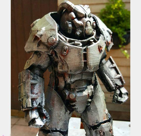 X01 Power Armor Fallout 4 Desktop Display Model 6 & 10 Inch