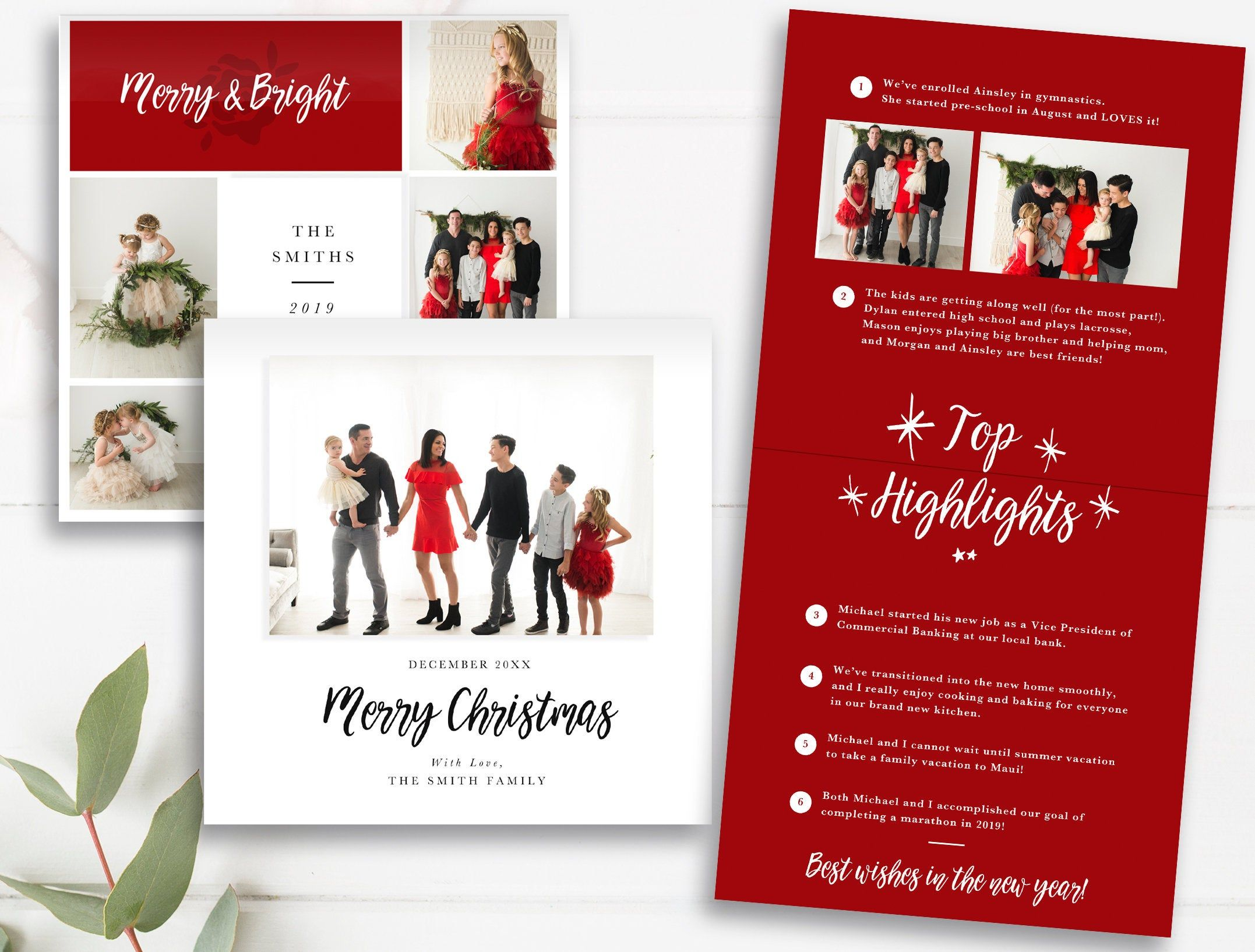 Instant Download Folded Christmas Card Pano Spreads Millers Etsy Graduation Invitations Graduation Invitation Cards Graduation Announcement Template