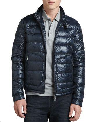 221a3936b Moncler Acorus Lightweight Puffer Jacket, Blue on shopstyle.com ...