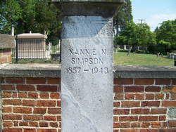 Nannie Nevins Simpson, Blandford Cemetery