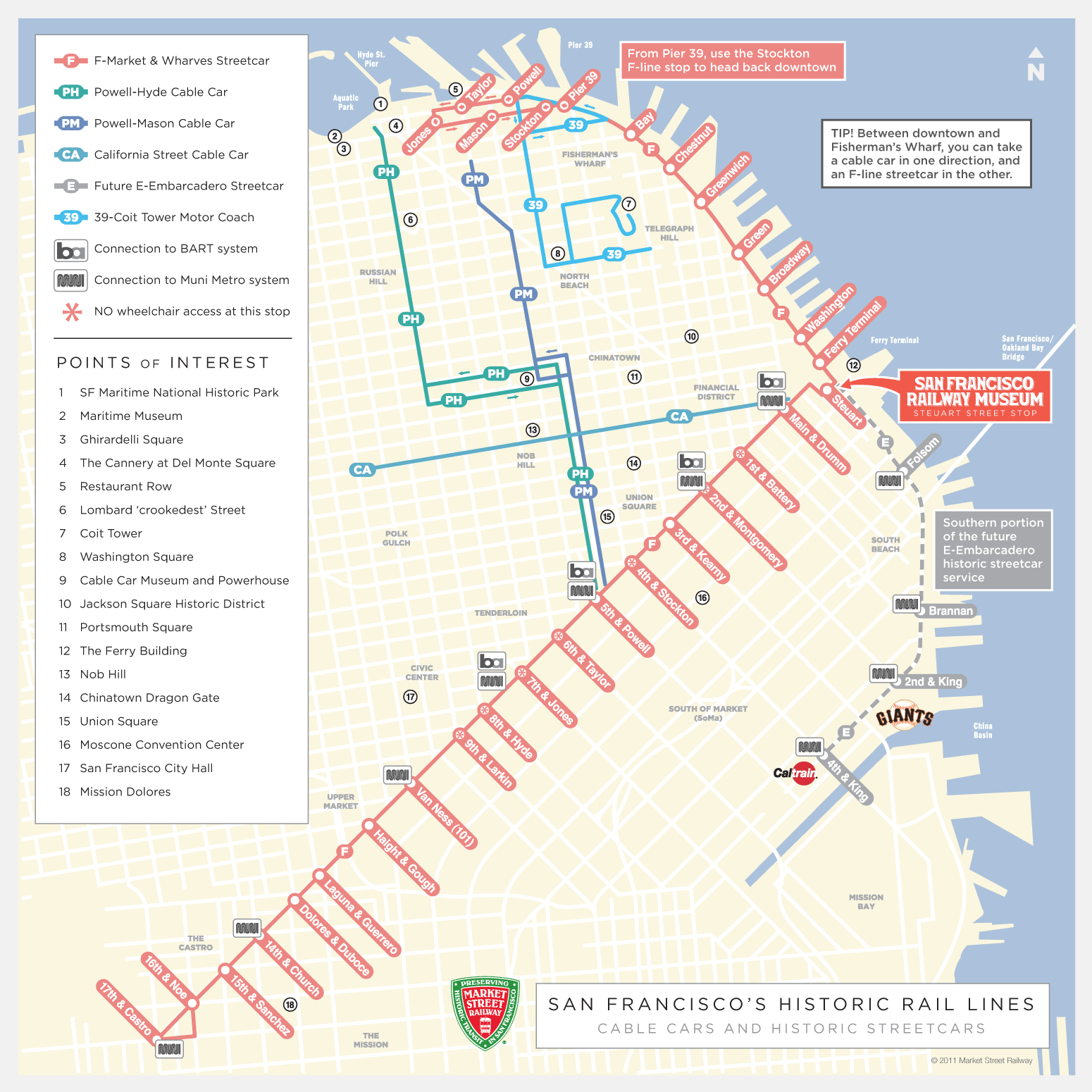 BEST Map Of Streetcars AND Subway Connections WITH Points Of - Map san francisco bus routes