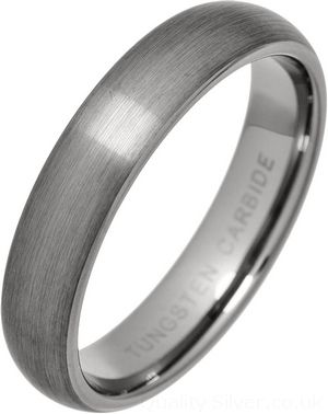 Tungsten Carbide 7mm Court Band Wedding Ring LxBXIboXP2