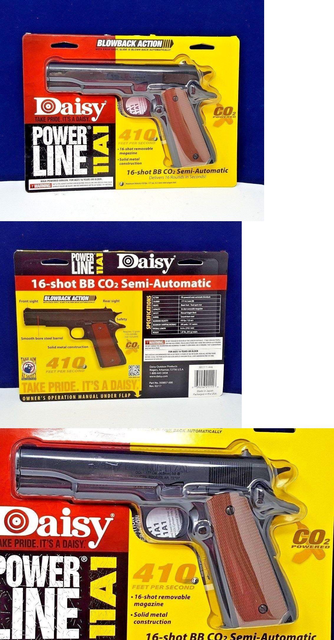 Daisy PowerLine 11A1 C02 16-Shot Semi-Automatic BB Gun Pistol