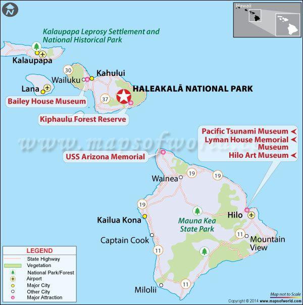 Haleakala National Park Maui Hawaii Map Facts Location Best - National parks locations map