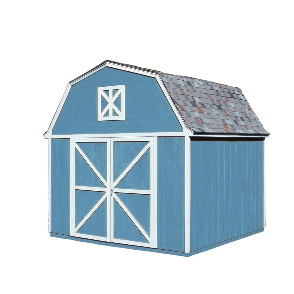 Handy Home Products Berkley 10 Ft X 10 Ft Wood Storage Building Kit 18419 2 With Images Wooden Storage Sheds Wood Storage Sheds Build A Shed Kit