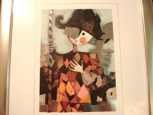 Rosina Wachtmeister Harlequin Framed Print Silver Foil Edition Signed Thelivesandlovesofmaggiethecat Fine Art On Art