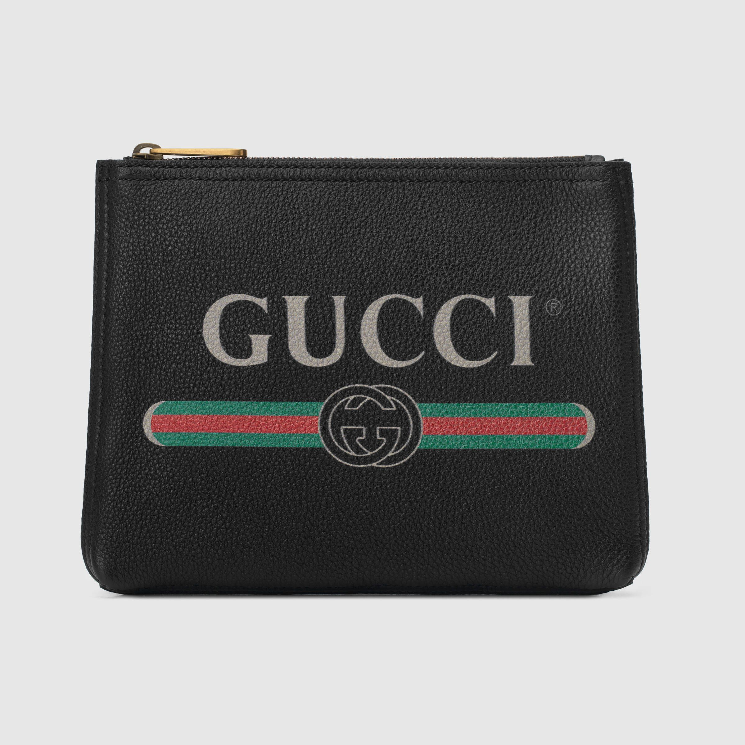 83b65d2d88 Gucci - Print leather small portfolio | SMALL LEATHER GOODS/TRAVEL ...