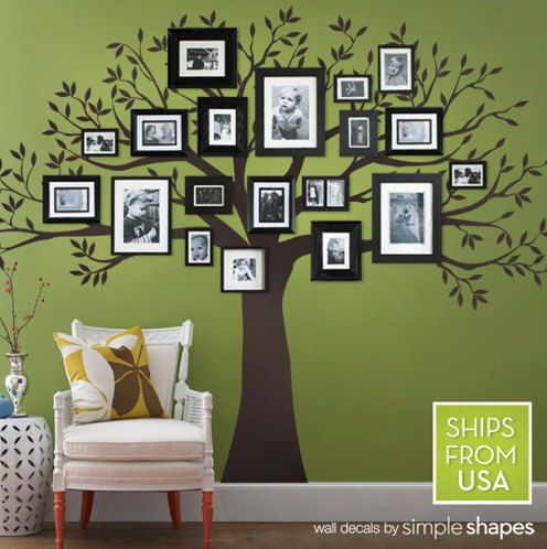 Family Tree Design Ideas 30 family picture frame wall ideas Family Tree Decal Idea Family Treedecalhomedesignpictures