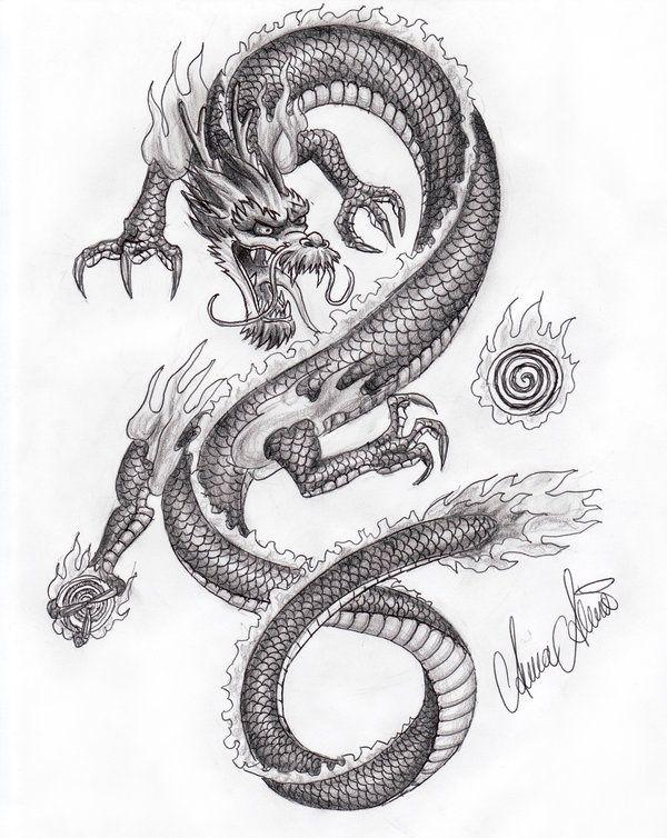 Coloriage Coloriage Dragon Pinterest Tatouage Dragon Dragon