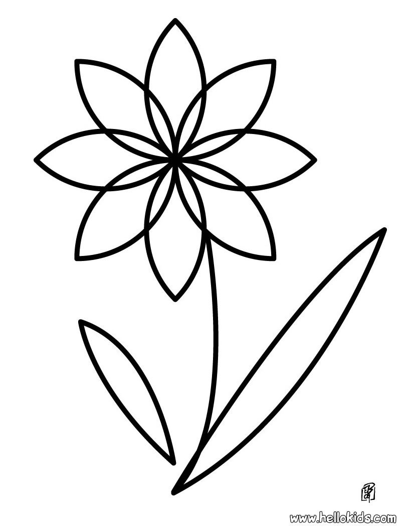 simple mandala flower coloring pages | A finger paint project | Activities for Kids | Flower ...