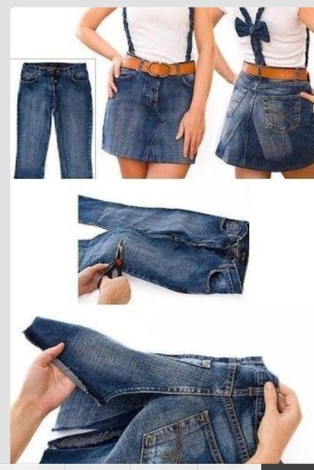 1eff015244 DIY Turn Those Old Jeans Into A Jean Skirt | CRAFTY CLOTHING | Jean ...