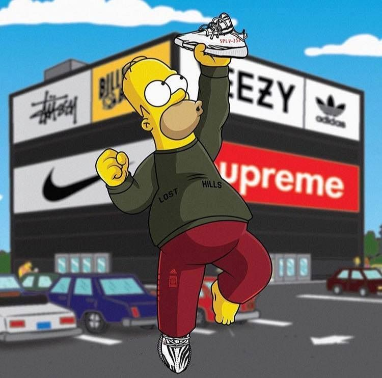 Pin by John Huang on Yeezy boost 350 v2 The Simpsons | The ...