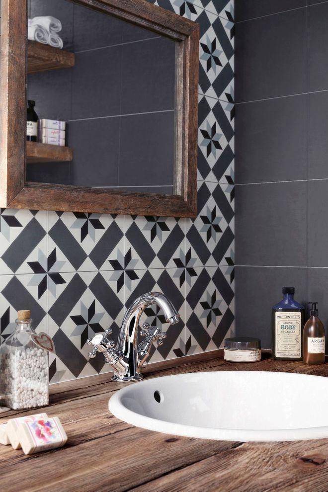 L\u0027esthétisme du vrai carreau de ciment dans la salle de bains