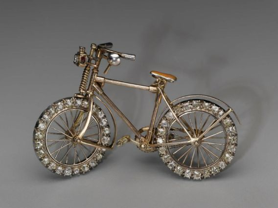 d1a6f7b5c61 This is a brooch from the 1890s is someone who is at the cutting edge of  female cycling fashion, has considerable wealth, and chooses to make a  statement ...