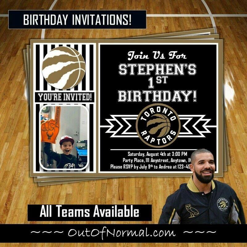 Toronto Raptors OVO Drake NBA Basketball Ticket Invite
