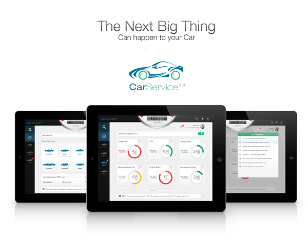 Car Service 2.0 (Apple iOS iPad Application) by Buwaneka Ranatunge, via Behance