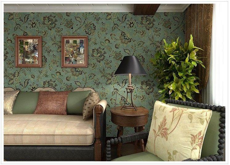 Boekenkast Behang Woonkamer : Vinyl vintage land stijl behang voor woonkamer bloemen muur papers