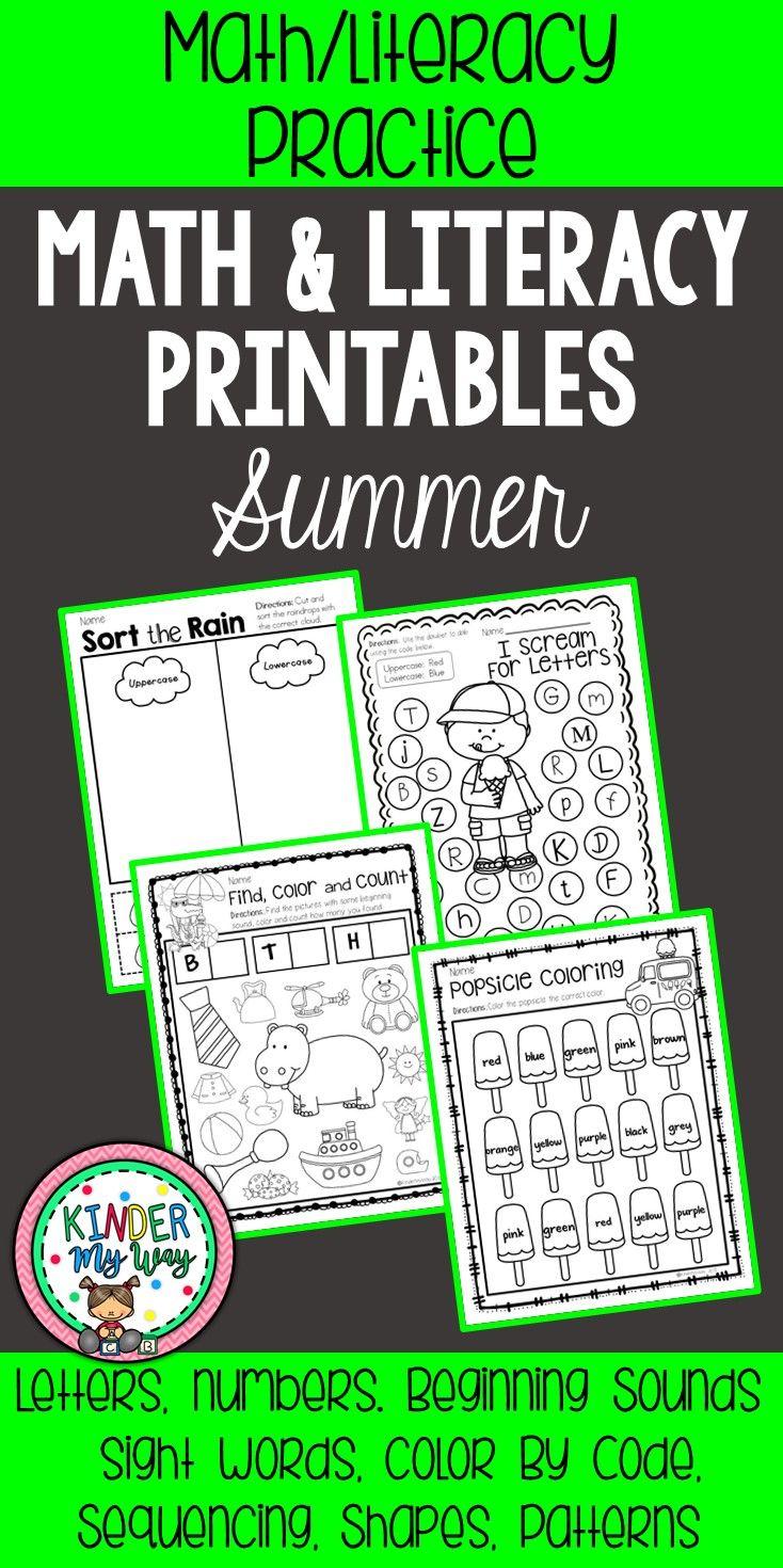 Preschool Summer Printables {NO PREP} | Kindergarten classroom ...