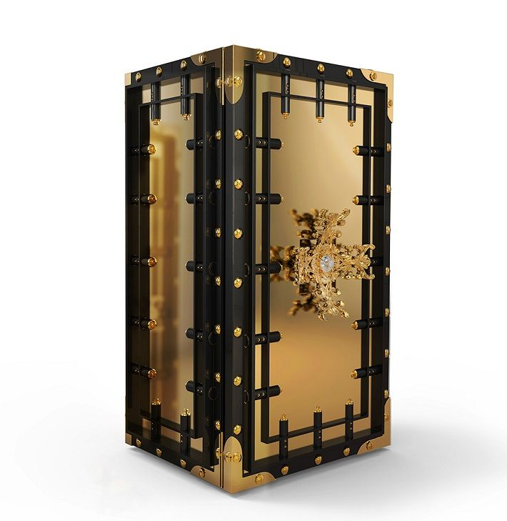 Knox Luxury Safe By Boca do Lobo, a exclusive design for a luxury lifestyle. Find more about Private Collection http://www.bocadolobo.com/en/private-collection/