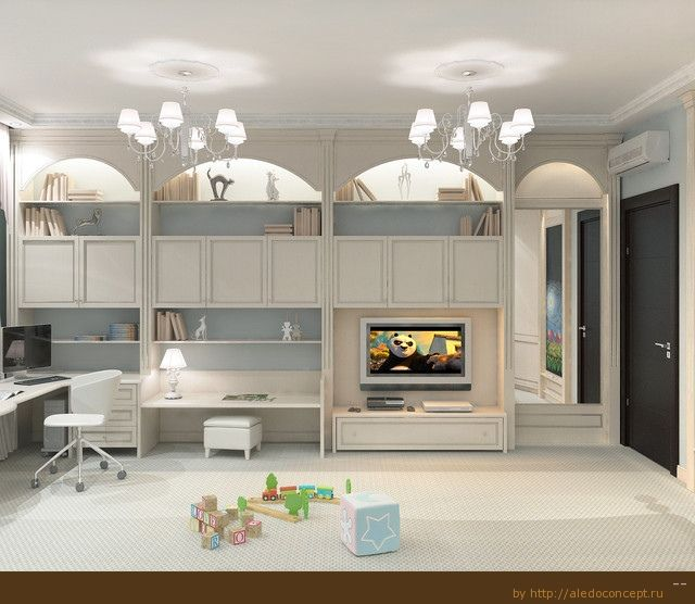 Kids Playroom With Tv playroom garage - tv center - cubby | project rose garden circle