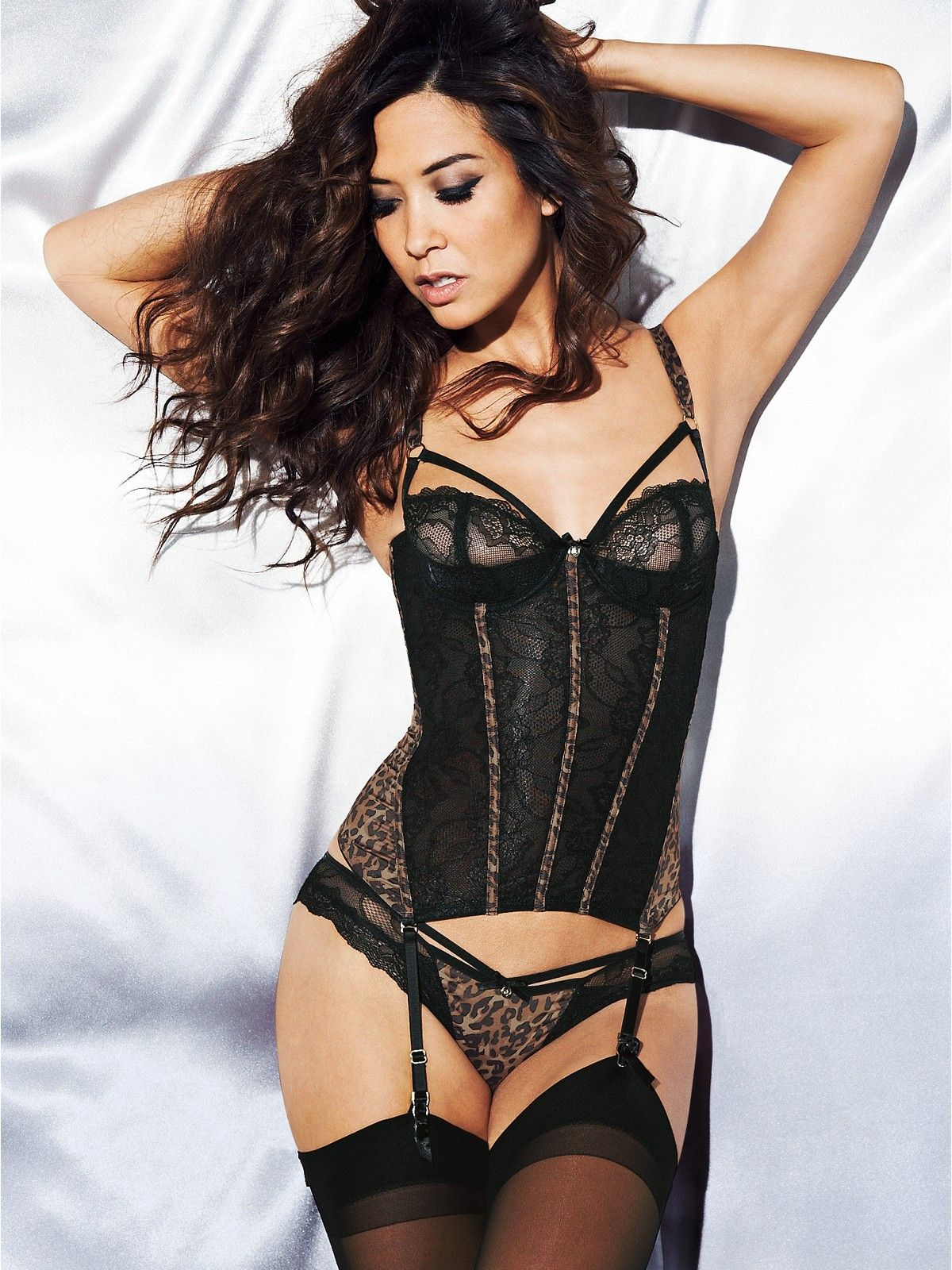 f7f4b5cf1 Myleene Klass Satin and Lace Basque Big Guys, Glamour Pics, Glamour  Lingerie, Women