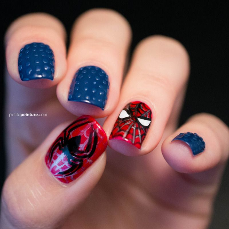 Coming up with Stylish Funky Nail Designs | Spiderman, Superhero ...