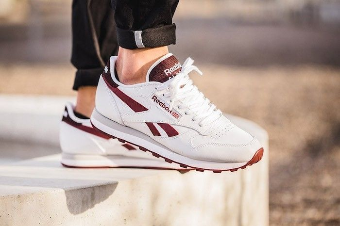 2b23866a80c reebok-classic-leather-femme-cuir-bordeaux-white-merlot  Sneakers ...