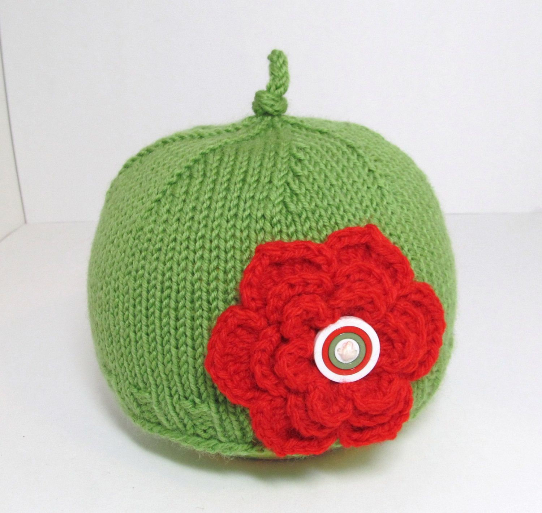 SALE  Hand Knit Baby Hat in Wool  Crochet by ArtbyAnaHandMade, $15.00
