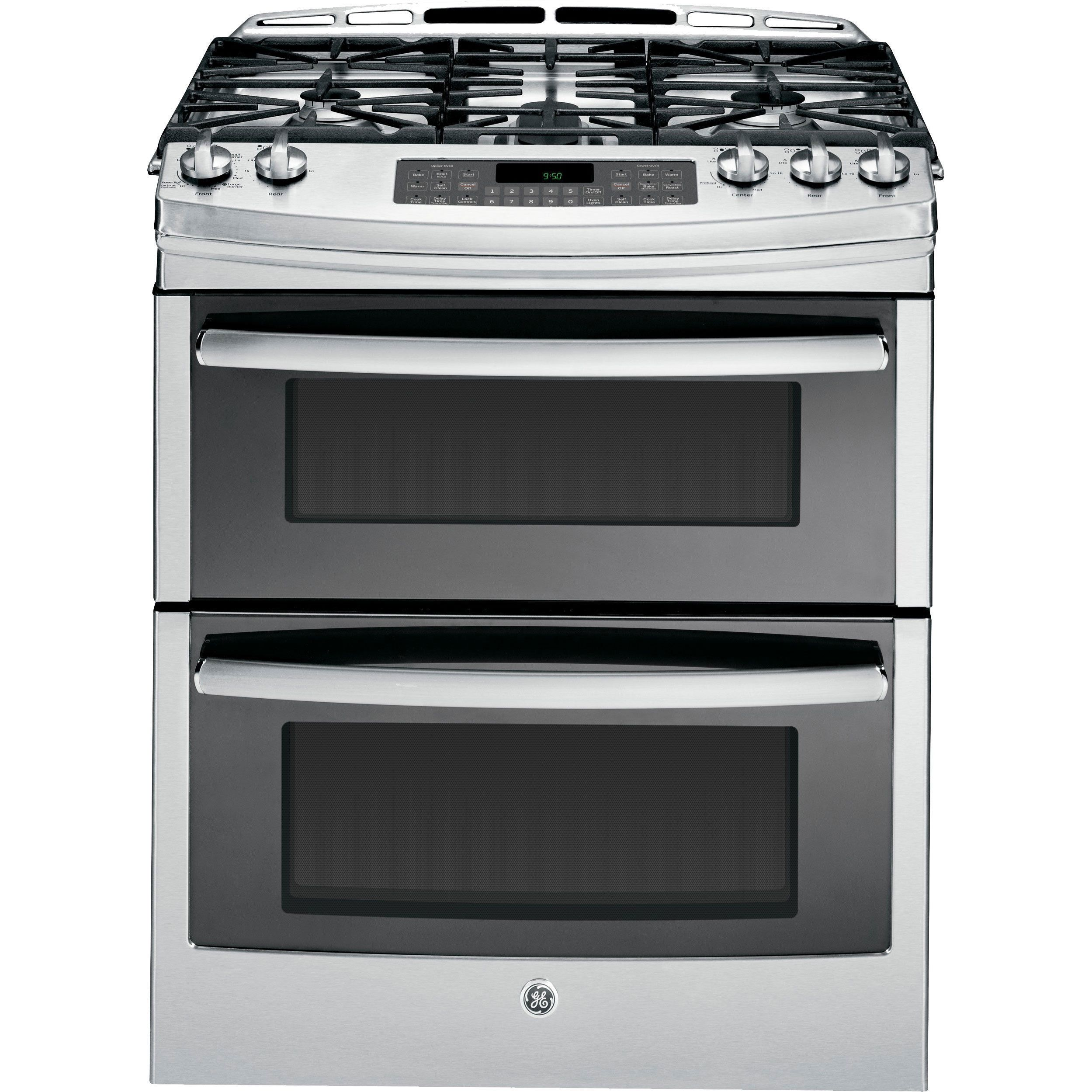 ge 6 7 cu ft double oven gas range with self cleaning convection