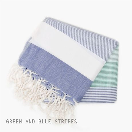 traditional Turkish Pestemal towels, super absorbent and lightweight.