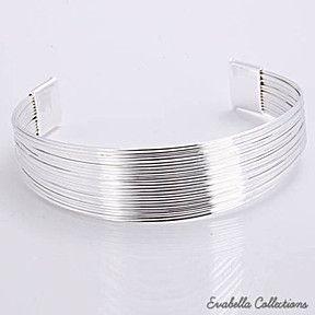 Simplicity Silver Cuff Italian Design Bracelets design by Evabella Collections by Evabella Collections on Opensky