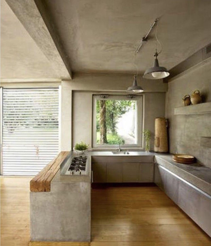 Best Modern Concrete Kitchen Design Diseño Interiores Casas 640 x 480