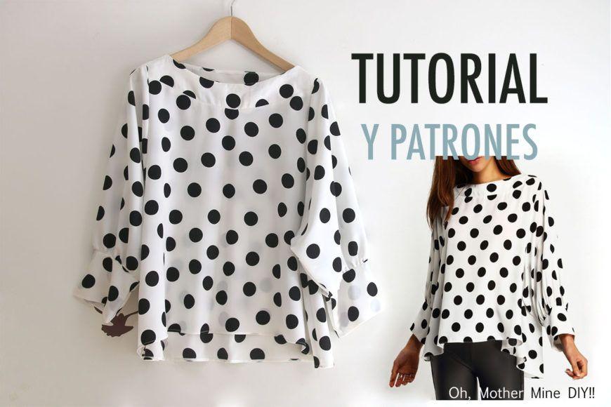Costura: Blusa de lunares para mujer (patrones gratis) | Sewing ...