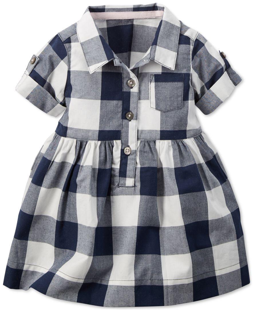 bbb51f016 Carter's Baby Girls' Checkered Shirt Dress | Baby stuff | Baby girl ...