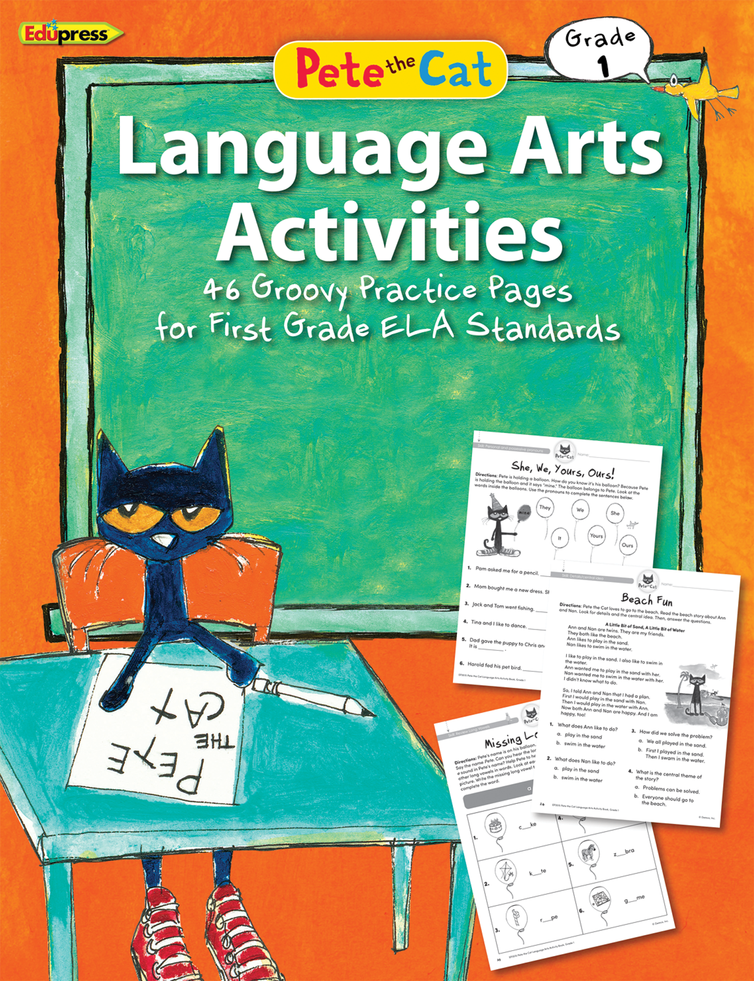 Pete The Cat Language Arts Activities Grade 1 Con
