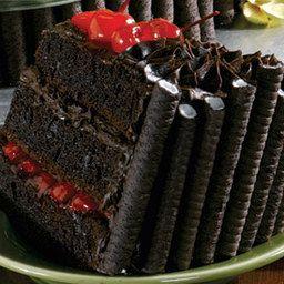 Phenomenal Triple Layer Black Forest Holiday Cake Price Chopper Recipe Funny Birthday Cards Online Elaedamsfinfo